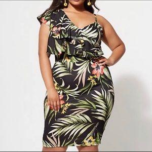 FTF Tropical Bodycon Dress